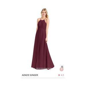 Azazie Bridesmaid Dress Ginger Cabernet A2